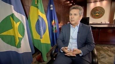 Governador Mauro Mendes fala sobre situação financeira do Estado e expectativa para votaçã - Governador Mauro Mendes fala sobre situação financeira do Estado e expectativa para votação de projetos na ALMT.