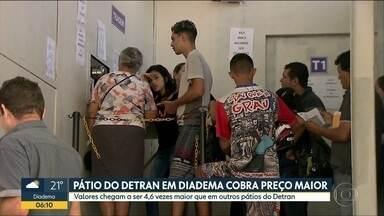 Motorista que tem carro guinchado em Santo André precisa ser retirado em Diadema - Detran alega que os pátios da cidade estão lotados