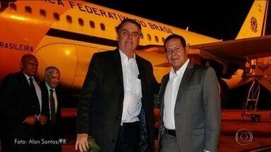 Bolsonaro volta para o Brasil após participar do Fórum Econômico Mundial - O presidente desembarcou em Brasília e foi recebido pelo vice-presidente Hamilton Mourão.
