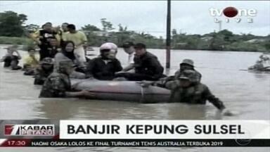 Sobe para 59 o número de mortos por causo dos temporais na Indonésia - As autoridades aumentaram o trabalho de resgate nas regiões mais atingidas.
