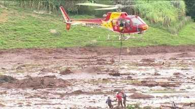 Boletim: 23 pessoas foram resgatadas com vida de lamaçais em Brumadinho - Bombeiros confirmam 34 mortos e 81 desabrigados.