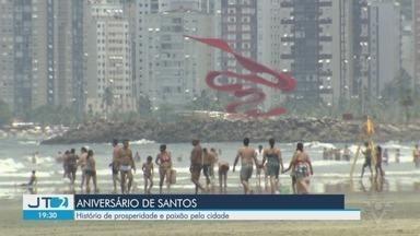 Santos comemora 473 anos neste sábado - Pioneira, abriga o maior Porto da América do Sul, é celeiro de artistas e esportistas, e tem munícipes que também fazem aniversário no mesmo dia.