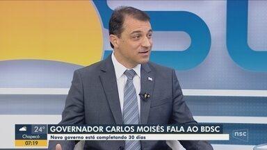 Governador Carlos Moisés fala sobre as projeções para a Saúde, Educação e vetos - Governador Carlos Moisés fala sobre as projeções para a Saúde, Educação e vetos