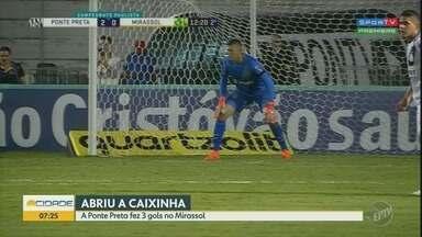 A Ponte Preta fez 3 gols em casa e vence o Mirassol - Foi pela 4° rodada do Paulistão 2019.