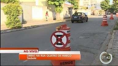 Trânsito é alterado na 4 de Março em Taubaté - Trecho ficará sem vagas para estacionamento.