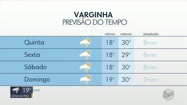 Confira a previsão do tempo para esta quinta-feira no Sul de MG - Confira a previsão do tempo para esta quinta-feira no Sul de MG