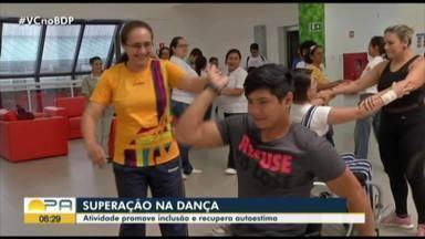 Pessoas com deficiência buscam na dança uma forma de terapia - Atividade também tem ajudado muita gente a aceitar as limitações do corpo e a recuperar a autoestima.