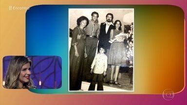 Mariana Santos no #TBT do Encontro - Foto relembra batizado em 1976. Atriz se emociona com mensagens dos familiares