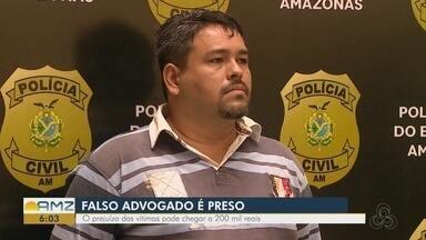 Preso suspeito de aplicar golpe de R$ 23 mil ao se passar por advogado, em Manaus - Mandado de prisão preventiva foi expedido em agosto do ano passado