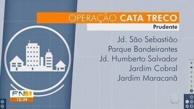 Operação Cata Treco recolhe materiais em Presidente Prudente - Caminhões da Prudenco percorrem bairros da cidade.