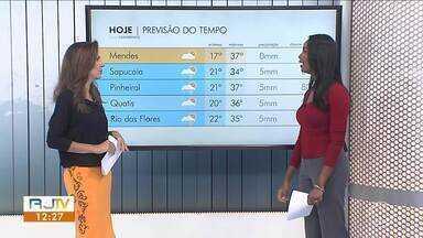 Calor segue sem dar trégua nesta quinta-feira no Sul do Rio - Não há previsão de chuva significativa.