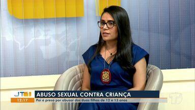 Delegada Milla Moura, da Deaca Santarém, orienta contra casos de abuso sexual - Somente no mês de janeiro, foram quatro casos registrados. Nesta quinta-feira (31), um pai foi preso por abusar sexualmente das duas filhas.