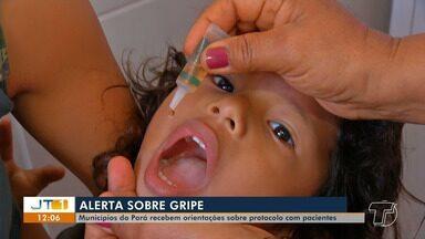 Sespa orienta municípios do Pará sobre protocolos para pacientes com Gripe - Campanha Nacional contra a doença será em abril. Em Santarém, muitas pessoas procuram as unidades de saúde com problemas respiratórios.