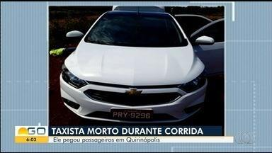 Corpo de taxista que sumiu durante corrida é encontrado na zona rural de Rio Verde - Segundo a Polícia Civil, ele foi morto a facadas após sair para uma corrida.