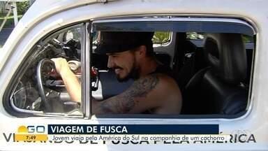 Jovem que viaja pela América na companhia de cachorro está em Goiânia - O roteiro de Jesse Koz até a Argentina inspirou o amigo Pablo Naves, que mora em Goiânia, a fazer a mesma viagem.