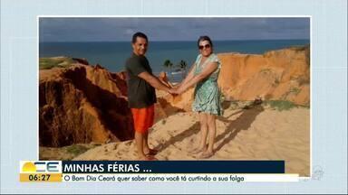 Reveja as fotos da campanha Minhas Férias desta sexta-feira (1) - O Bom Dia Ceará quer saber como você está curtindo seus dias de folga.