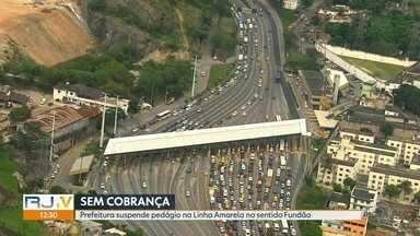 Prefeitura suspende cobrança do pedágio da Linha Amarela no trecho da Barra ao Fundão - Lamsa disse que vai recorrer da decisão