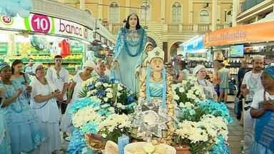 Festividades para Iemanjá começam no Mercado Público nesta sexta-feira (1) - Assista ao vídeo.