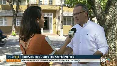 Prefeitura de Foz mantém horário de expediente reduzido até março - Medida é para economizar.