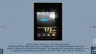 Operação flagra excesso de velocidade na Rodovia Raposo Tavares - Fiscalização foi realizada pela Polícia Militar Rodoviária.