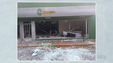 Bandidos explodem banco em Congoinhas - Valor levado pelos criminosos não foi divulgado.