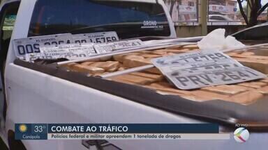 Caminhonete é apreendida com drogas entre Campina Verde e Prata - Quatro pessoas foram detidas e encaminhadas para a sede da Polícia Federal em Uberlândia.
