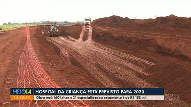Hospital da Criança de Maringá está previsto para 2020 - Obra está na fase das fundações.