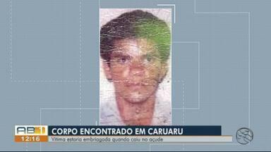 Homem é encontrado morto dentro de açude em Caruaru - Família da vítima acredita que ele tenha caído no reservatório e se afogado porque estava embriagado.