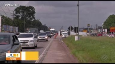 Trânsito de caminhões é restrito na BR-316 para obras do BRT Metropolitano - O objetivo é garantir tráfego na rodovia.