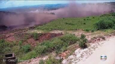 Veja momento exato em que barragem estoura em Brumadinho - Vídeo mostra o momento exato em que barragem da Vale estoura em Brumadinho.