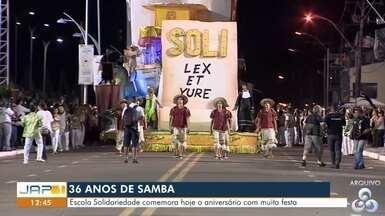 Império de samba Solidariedade comemora mais um aniversário, no AP - Escola Solidariedade comemora hoje o aniversário com muita festa