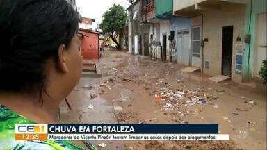 Chuva arrasta areia de obra e a lama invade casas no bairro Vicente Pinzón - Confira outras notícias no g1.globo/ce