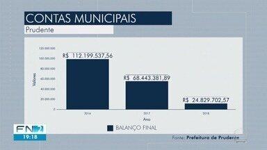 Prefeitura de Presidente Prudente gasta reservas para manter contas em dia - Confira como ficaram os valores de algumas secretarias em 2018.