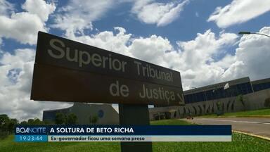 Ex-governador Beto Richa foi solto após decisão do presidente do STJ - Richa estava preso desde a última sexta-feira depois de uma operação que apura supostas fraudes na gestão de concessões de rodovias no estado.