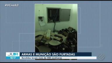 Polícia investiga furto de 262 revólveres e mais de 3 mil munições no Pará - As armas e a munição estavam na sede de uma empresa de vigilância, desativada há cerca de dois anos, na BR-316.