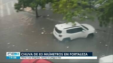 Fevereiro começa com fortes chuvas no Ceará - Só na capital, foram 83 milímetros e muito transtornos