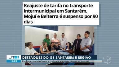 Suspensão de tarifa intermunicipal é destaque no G1 Santarém e região - Confira essa e outras notícias do G1 através do celular, tablet e computador.
