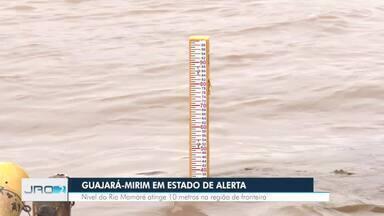 Rio Mamoré em estado de alerta - Nível atingiu a cota de 10 metros em Guajará-Mirim
