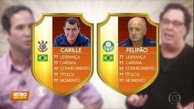 Felipão e Carille se enfrentam pela primeira vez na carreira neste sábado - Felipão e Carille se enfrentam pela primeira vez na carreira neste sábado