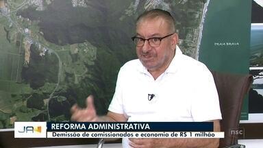 Reforma administrativa em Itajaí mexe com 252 cargos comissionados da prefeitura - Reforma administrativa em Itajaí mexe com 252 cargos comissionados da prefeitura