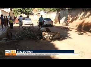 'Blitz': Moradores do Bairro Jardim Trevo, em Valadares, cobram melhorias estruturais - Bairro tem várias ruas com buracos e lixo.