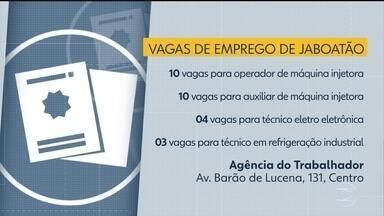Confira as vagas de emprego disponíveis nesta quinta (7) em Jaboatão dos Guararapes - A Agência do Trabalhador do município fica na Avenida Barão de Lucena, nº 131, no Centro