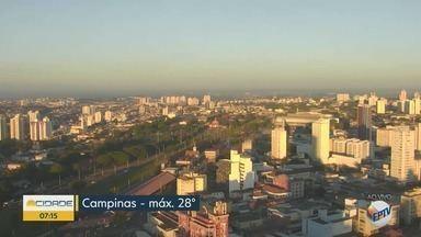 Confira a previsão do tempo para Campinas e Região nesta Sexta-feira (8) - Máxima de 28° C.