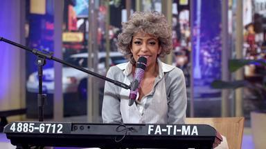 Fátima - Nesse programa, Ferdinando recebe para um bate papo a personagem Fátima, interpretada pela atriz Samantha Schumtz.