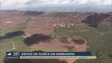 Moradores de Barão de Cocais só poderão voltar para casa após laudo de estabilidade - Moradores de Barão de Cocais só poderão voltar para casa após laudo de estabilidade de barragens