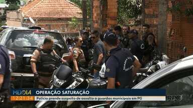 Polícia prende suspeito de assaltar guardas municipaies em Ponta Grossa - Ele foi detido e encaminhado para a delegacia na manhã deste sábado (09).