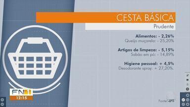 Pesquisa aponta queda de preços em Presidente Prudente - Levantamento foi realizado em seis supermercados.