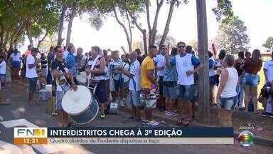 Confira os destaques do noticiário esportivo neste sábado - Distritos de Presidente Prudente disputam competição de futebol.