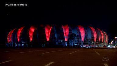 Inter ilumina o Beira-Rio em preto e vermelho em homenagem às vítimas do Flamengo - Assista ao vídeo.