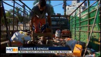 Bairros de Divinópolis recebem mutirão de limpeza em ação de combate à dengue - Outras ações estão previstas para o mês de fevereiro em razão do risco de epidemia de dengue no município. Cerca de 58 casos suspeitos foram notificados na cidade em 2019